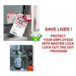 Master Lock Safety Lock-off Thermoplastic Padlock