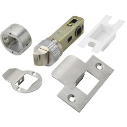 "Urfic Easy Latch Tubular Latch 3"" Satin - 87743 - from Toolstation"