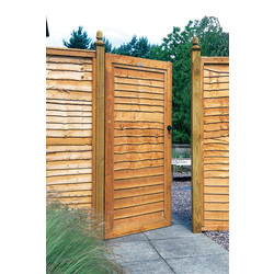 Forest Forest Garden Dip Treated Lap Gate 182cm (h) x 91cm (w) x 4.4cm (d) - 87778 - from Toolstation