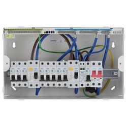 BG Metal 18th Edition Dual RCD Type A + 8 MCBs + SPD Consumer Unit