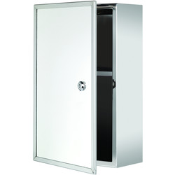 Croydex Croydex Lockable Single Door Stainless Steel Bathroom Cabinet 400 x 250 x 130mm - 87802 - from Toolstation