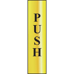 Centurion Brass Effect Door Sign Push - 87823 - from Toolstation