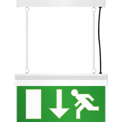 LED Emergency Exit Sign Light White - 87872 - from Toolstation