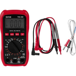 TIS TIS 258 Digital Multimeter With Temperature Probe  - 87874 - from Toolstation