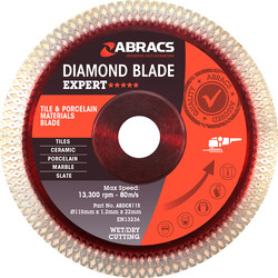 Abracs Abracs Tile & Porcelain Diamond Blade 115 x 22mm - 87878 - from Toolstation