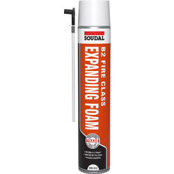 Soudal Soudal B2 Fire Rated Expanding Foam Hand Held 750ml - 87889 - from Toolstation