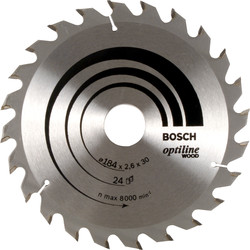 Bosch TCT Optiline Circular Saw Blade 184 x 30mm x 24T