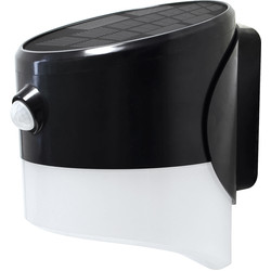 Luceco Luceco SOLAR Guardian 2W PIR Wall Lantern IP44 Black 200lm - 87951 - from Toolstation