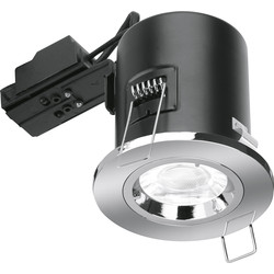 Enlite Enlite Fixed Fire Rated GU10 Downlight EN-FD101PC Chrome - 87952 - from Toolstation
