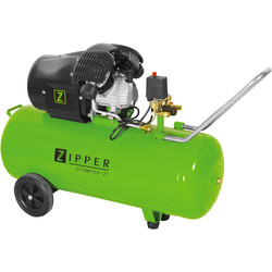 Zipper Zipper COM100-2V 100L 3.0 HP Pro Twin Cylinder Air Compressor - 8 bar 230V - 87964 - from Toolstation