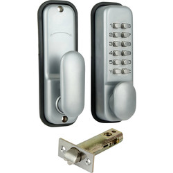 ERA Mechanical Easy Code Push-Button Lock Satin Chrome