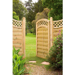 Forest Forest Garden Prague Gate 180cm (h) x 90cm (w) x 4.5cm (d) - 88198 - from Toolstation