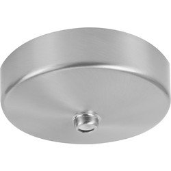 BG BG Decorative Ceiling Rose Brushed Chrome 80mm - 88202 - from Toolstation