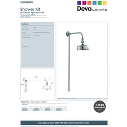 Deva Rigid Antique Shower Kit
