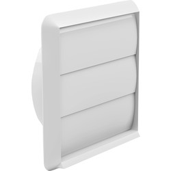 Wall Outlet Gravity Flap 125mm White