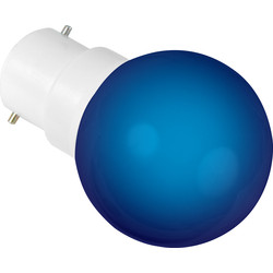Sylvania Sylvania LED 0.5W Ball Lamp BC (B22d) Blue 22lm - 88337 - from Toolstation