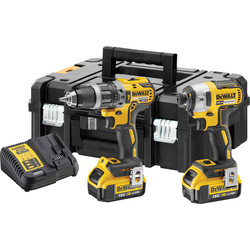 DeWalt DeWalt DCK266M2T-GB 18V XR Cordless Brushless Combi Drill & Impact Driver Twin Pack 2 x 4.0Ah - 88353 - from Toolstation