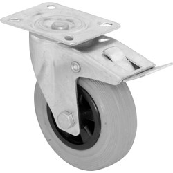 MOVE IT Swivel Wheel with Brake Castor 75mm 50kg - 88434 - from Toolstation