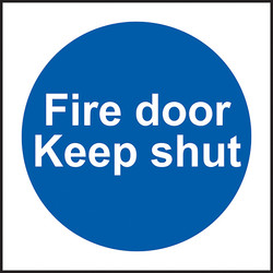 Fire Safety Sign Fire Door Keep Shut