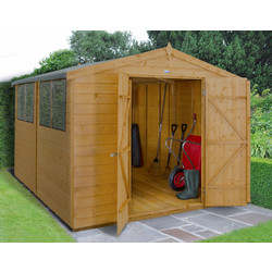 Forest Forest Garden Shiplap Dip Treated Shed - Double Door 10' x 8' - 88600 - from Toolstation