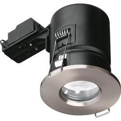 Enlite Enlite IP65 Fire Rated GU10 Downlight EN-FD103SN Satin Nickel - 88649 - from Toolstation