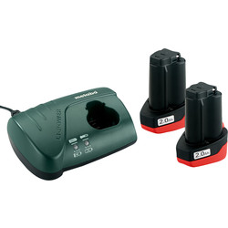 Metabo Basic Set 10.8V Charger Kit 2 x 2.0Ah