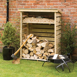 Rowlinson Rowlinson Small Log Store 156cm (h) x 117cm (w) x 56cm (d) - 88731 - from Toolstation