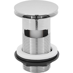 "Click-clac 1 1/4"" Chrome Plated Brass Basin Plug Slotted - 88739 - from Toolstation"