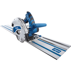 Scheppach Scheppach PL55Li-P2 36V Li-Ion 160mm Cordless Plunge Saw + 2800mm Guide Rails 2 x 2.0Ah - 88751 - from Toolstation