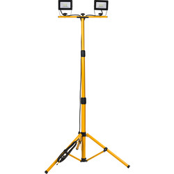 Unbranded LED Twin Tripod Work Light IP65 240V 2x20W 2x2000lm - 88766 - from Toolstation