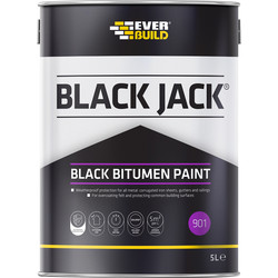 Everbuild Black Bituminous Paint 5L - 88792 - from Toolstation