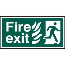 PVC Fire Exit Safety Sign Fire Exit Running Man - 88973 - from Toolstation
