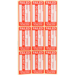 Unbranded PAT Testing Labels 200 X Failed - 89046 - from Toolstation