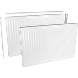 Qual-Rad Type 11 Single-Panel Single Convector Radiator 300 x 600mm 1117Btu - 89062 - from Toolstation
