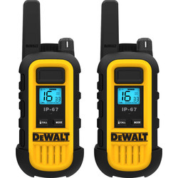 DeWalt DeWalt DXPMR300 Walkie Talkie Pair 8km Range - 89095 - from Toolstation