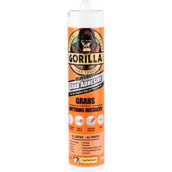 Gorilla Glue Gorilla Heavy Duty Grab Adhesive 290ml - 89111 - from Toolstation