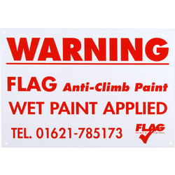 Flag Anti-Climb Warning Notice Warning Notice - 89123 - from Toolstation