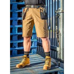 "DeWalt DeWalt Ripstop Holster Pocket Shorts 36"" Tan - 89166 - from Toolstation"