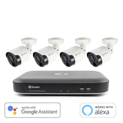 Swann Security Swann 4K Ultra HD Smart Security System 8 Channel 4 Camera - 89225 - from Toolstation