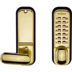 Eclipse Ironmongery ED20 Easy Code Change Digital Lock Polished Brass - 89226 - from Toolstation