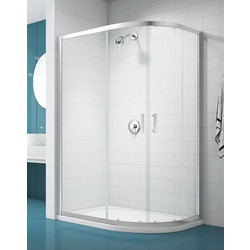 Merlyn NIX  Merlyn NIX Sliding 2 Door Quadrant Shower Enclosure Offset 1200mm x 800mm - 89242 - from Toolstation