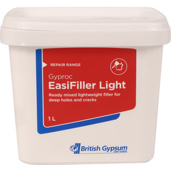 Gyproc Gyproc Easifiller Light Ready Mixed Filler 1L - 89297 - from Toolstation