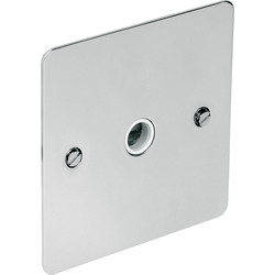 CED Flat Plate Polished Chrome 20A Flex Outlet Plate 20A - 89435 - from Toolstation