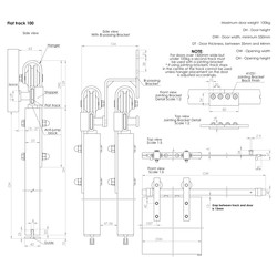 Coburn Flat Track 100 Top Mount Hanger One Door System
