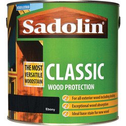 Sadolin Sadolin Classic Wood Stain 2.5L Ebony - 89563 - from Toolstation