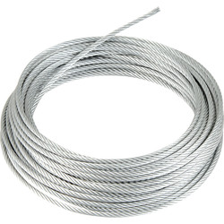 Galvanised Wire Rope 4mm x 10m - 89647 - from Toolstation