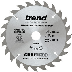 Trend Trend Craft Thin Kerf Circular Saw Blade 165 x 24T x 20mm CSB/AP16052 - 89689 - from Toolstation