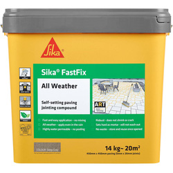 Sika Sika FastFix All Weather Jointing Compound Deep Grey 14kg - 89796 - from Toolstation