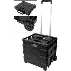 Streetwize Folding Toolbox Box Trolley 380 x 310 x 330mm - 89907 - from Toolstation