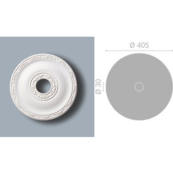 NMC Classic Coving Ceiling Rose R71 405mm x 30mm - 89930 - from Toolstation